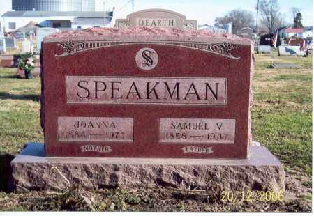 SPEAKMAN, SAMUEL V. - Ross County, Ohio | SAMUEL V. SPEAKMAN - Ohio Gravestone Photos