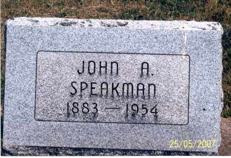 SPEAKMAN, JOHN A. - Ross County, Ohio   JOHN A. SPEAKMAN - Ohio Gravestone Photos