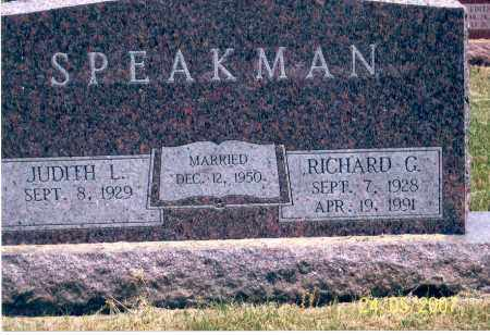 SPEAKMAN, RICHARD G. - Ross County, Ohio | RICHARD G. SPEAKMAN - Ohio Gravestone Photos