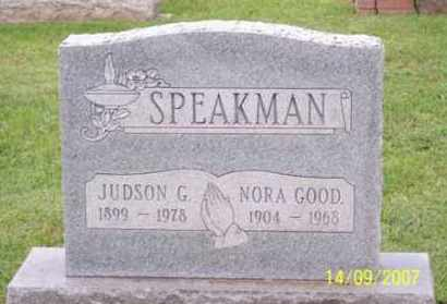 GOOD SPEAKMAN, NORA - Ross County, Ohio   NORA GOOD SPEAKMAN - Ohio Gravestone Photos