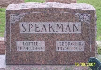 SPEAKMAN, GEORGE R. - Ross County, Ohio   GEORGE R. SPEAKMAN - Ohio Gravestone Photos