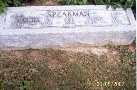 SPEAKMAN, JOHN W. - Ross County, Ohio | JOHN W. SPEAKMAN - Ohio Gravestone Photos