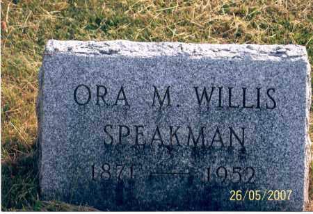 SPEAKMAN, ORA M. - Ross County, Ohio | ORA M. SPEAKMAN - Ohio Gravestone Photos