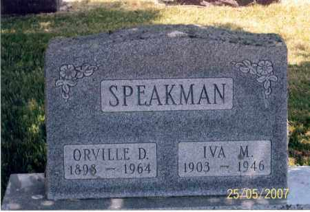 SPEAKMAN, IVA M. - Ross County, Ohio | IVA M. SPEAKMAN - Ohio Gravestone Photos
