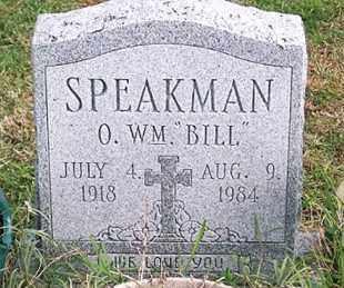 """SPEAKMAN, O. WM. """"BILL"""" - Ross County, Ohio   O. WM. """"BILL"""" SPEAKMAN - Ohio Gravestone Photos"""