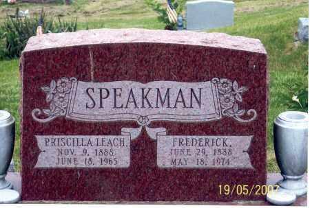 SPEAKMAN, FREDERICK - Ross County, Ohio | FREDERICK SPEAKMAN - Ohio Gravestone Photos