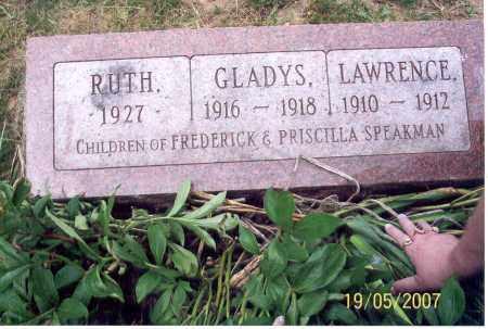 SPEAKMAN, GLADYS - Ross County, Ohio   GLADYS SPEAKMAN - Ohio Gravestone Photos