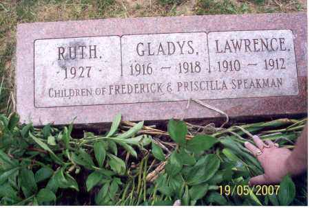 SPEAKMAN, GLADYS - Ross County, Ohio | GLADYS SPEAKMAN - Ohio Gravestone Photos
