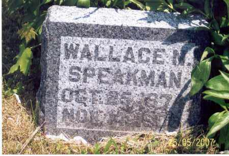 SPEAKMAN, WALLACE N. - Ross County, Ohio | WALLACE N. SPEAKMAN - Ohio Gravestone Photos
