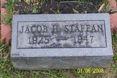 STAFFAN, JACOB H. - Ross County, Ohio   JACOB H. STAFFAN - Ohio Gravestone Photos