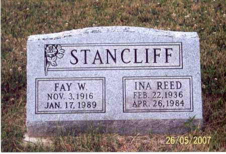 REED STANCLIFF, INA - Ross County, Ohio   INA REED STANCLIFF - Ohio Gravestone Photos
