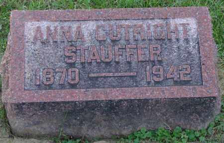 CUTRIGHT STAUFFER, ANNA - Ross County, Ohio | ANNA CUTRIGHT STAUFFER - Ohio Gravestone Photos