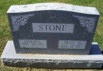 STONE, ALICE M. - Ross County, Ohio | ALICE M. STONE - Ohio Gravestone Photos