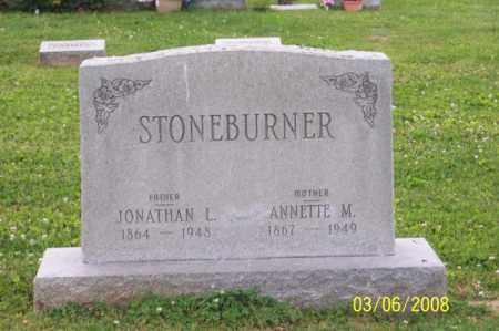 STONEBURNER, JONATHAN L. - Ross County, Ohio   JONATHAN L. STONEBURNER - Ohio Gravestone Photos