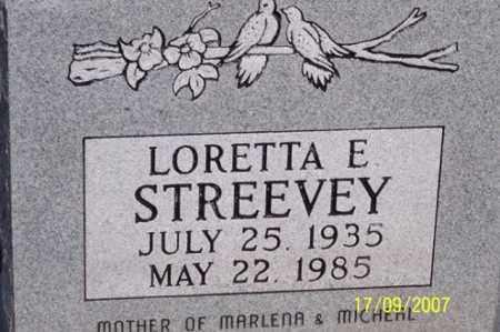 STREEVEY, LORETTA E. - Ross County, Ohio   LORETTA E. STREEVEY - Ohio Gravestone Photos