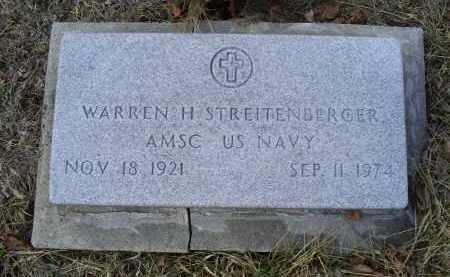 STREITENBERGER, WARREN H. - Ross County, Ohio | WARREN H. STREITENBERGER - Ohio Gravestone Photos