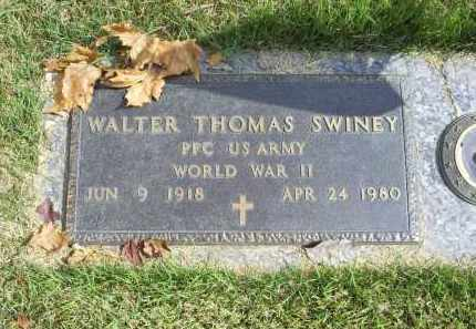 SWINEY, WALTER THOMAS - Ross County, Ohio | WALTER THOMAS SWINEY - Ohio Gravestone Photos
