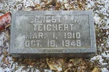 TEICHERT, ERNEST J. - Ross County, Ohio   ERNEST J. TEICHERT - Ohio Gravestone Photos