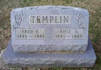 TEMPLIN, FRED E. - Ross County, Ohio   FRED E. TEMPLIN - Ohio Gravestone Photos