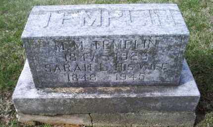 TEMPLIN, SARAH L. - Ross County, Ohio | SARAH L. TEMPLIN - Ohio Gravestone Photos