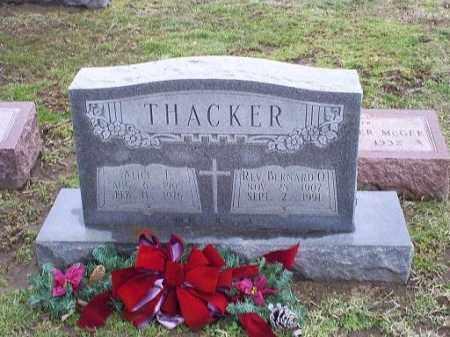 THACKER, REV. BERNARD O. - Ross County, Ohio   REV. BERNARD O. THACKER - Ohio Gravestone Photos