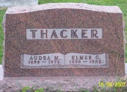 THACKER, AUDRA M. - Ross County, Ohio   AUDRA M. THACKER - Ohio Gravestone Photos