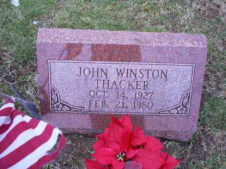 THACKER, JOHN WINSTON - Ross County, Ohio | JOHN WINSTON THACKER - Ohio Gravestone Photos