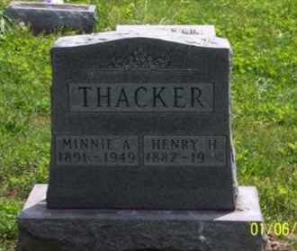 THACKER, MINNIE A. - Ross County, Ohio | MINNIE A. THACKER - Ohio Gravestone Photos