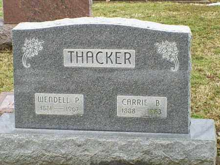 THACKER, WENDELL P. - Ross County, Ohio | WENDELL P. THACKER - Ohio Gravestone Photos