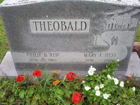 THEOBALD, MARY E. - Ross County, Ohio | MARY E. THEOBALD - Ohio Gravestone Photos