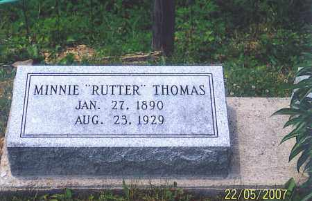RUTTER THOMAS, MINNIE - Ross County, Ohio | MINNIE RUTTER THOMAS - Ohio Gravestone Photos