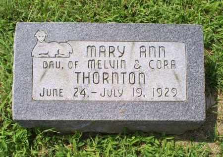THORNTON, MARY ANN - Ross County, Ohio   MARY ANN THORNTON - Ohio Gravestone Photos