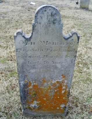 THROCKMORTON, ELIZABETH - Ross County, Ohio   ELIZABETH THROCKMORTON - Ohio Gravestone Photos