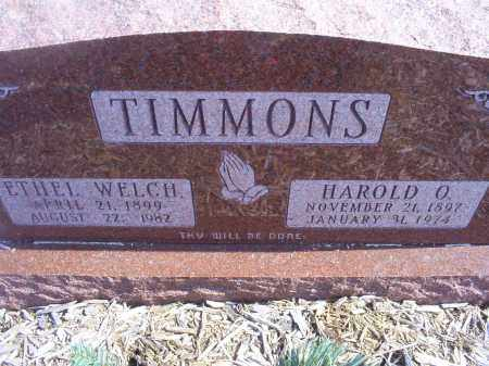 WELCH TIMMONS, ETHEL - Ross County, Ohio | ETHEL WELCH TIMMONS - Ohio Gravestone Photos