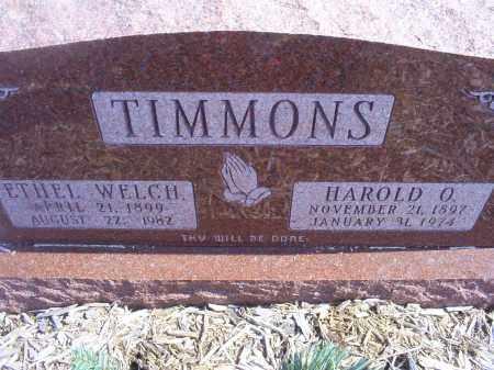 TIMMONS, ETHEL - Ross County, Ohio | ETHEL TIMMONS - Ohio Gravestone Photos