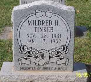 TINKER, MILDRED H. - Ross County, Ohio   MILDRED H. TINKER - Ohio Gravestone Photos