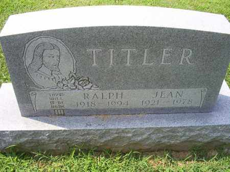 TITLER, JEAN - Ross County, Ohio | JEAN TITLER - Ohio Gravestone Photos