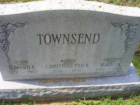 FRICK TOWNSEND, CHRISTINE - Ross County, Ohio | CHRISTINE FRICK TOWNSEND - Ohio Gravestone Photos