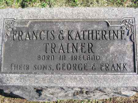 TRAINER, FRANCIS - Ross County, Ohio   FRANCIS TRAINER - Ohio Gravestone Photos