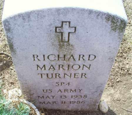 TURNER, RICHARD MARION - Ross County, Ohio | RICHARD MARION TURNER - Ohio Gravestone Photos