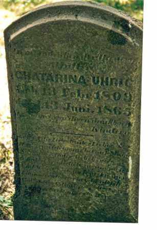 STRAUS UHRIG, CHATRINA - Ross County, Ohio | CHATRINA STRAUS UHRIG - Ohio Gravestone Photos