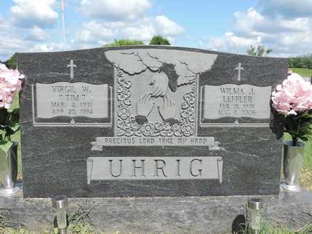 UHRIG, WILMA J. - Ross County, Ohio   WILMA J. UHRIG - Ohio Gravestone Photos
