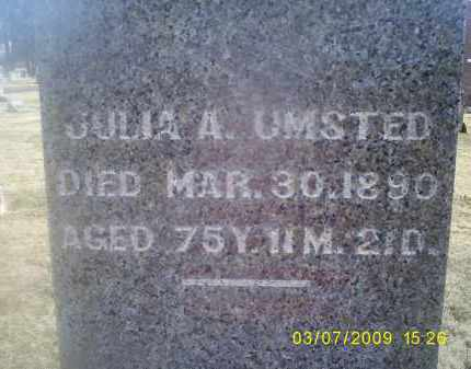 UMSTED, JULIA A. - Ross County, Ohio | JULIA A. UMSTED - Ohio Gravestone Photos