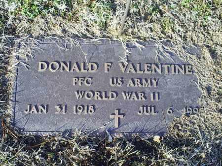 VALENTINE, DONALD F. - Ross County, Ohio   DONALD F. VALENTINE - Ohio Gravestone Photos