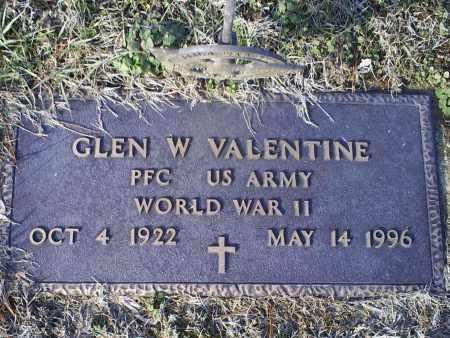 VALENTINE, GLEN W. - Ross County, Ohio | GLEN W. VALENTINE - Ohio Gravestone Photos