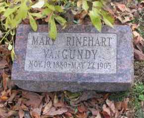 RINEHART VAN GUNDY, MARY - Ross County, Ohio | MARY RINEHART VAN GUNDY - Ohio Gravestone Photos