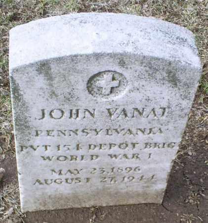 VANAT, JOHN - Ross County, Ohio | JOHN VANAT - Ohio Gravestone Photos