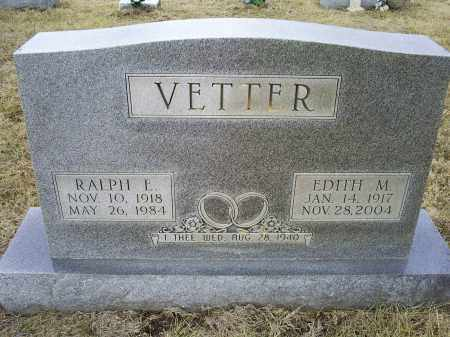 VETTER, EDITH M. - Ross County, Ohio | EDITH M. VETTER - Ohio Gravestone Photos