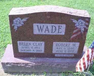 WADE, ROBERT W. - Ross County, Ohio | ROBERT W. WADE - Ohio Gravestone Photos