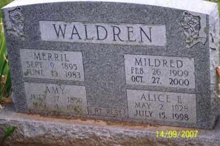 WALDREN, MERRIL - Ross County, Ohio | MERRIL WALDREN - Ohio Gravestone Photos